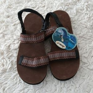 New reef men's convertible-strap sandal size 10